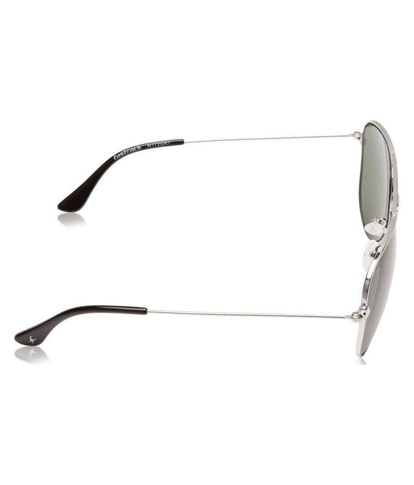 Fastrack Green Aviator Sunglasses ( NBM172GR1 )