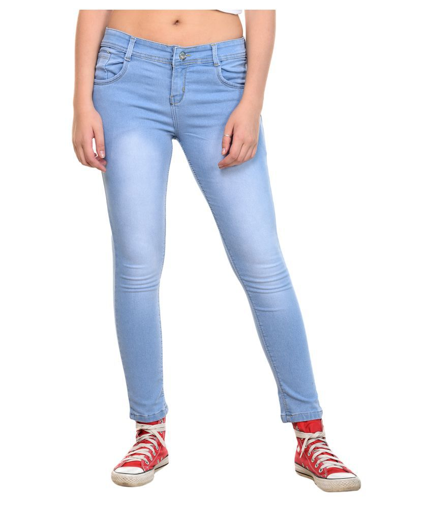 Fourgee Denim Lycra Jeans - Blue