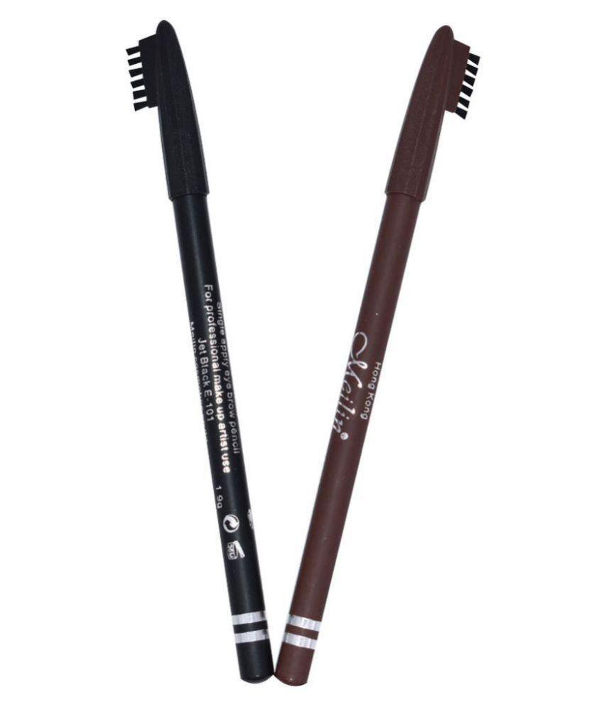 Meilin Brow Eyebrow Kit Black, Dark brown 4 gm