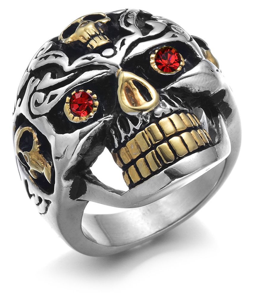 Alloy Red Eye Skull Ring Fashion Jewellery