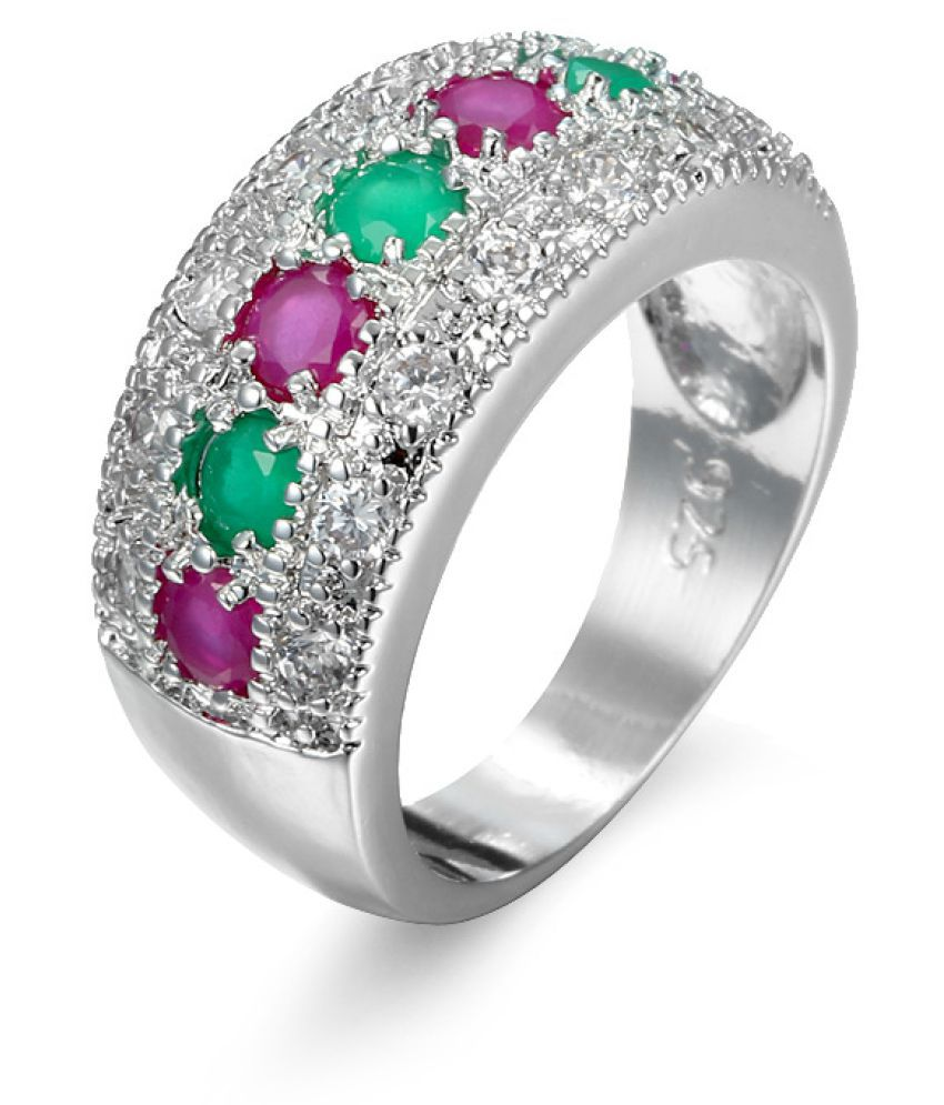 Universal Ring Red + Green Fashion Jewellery