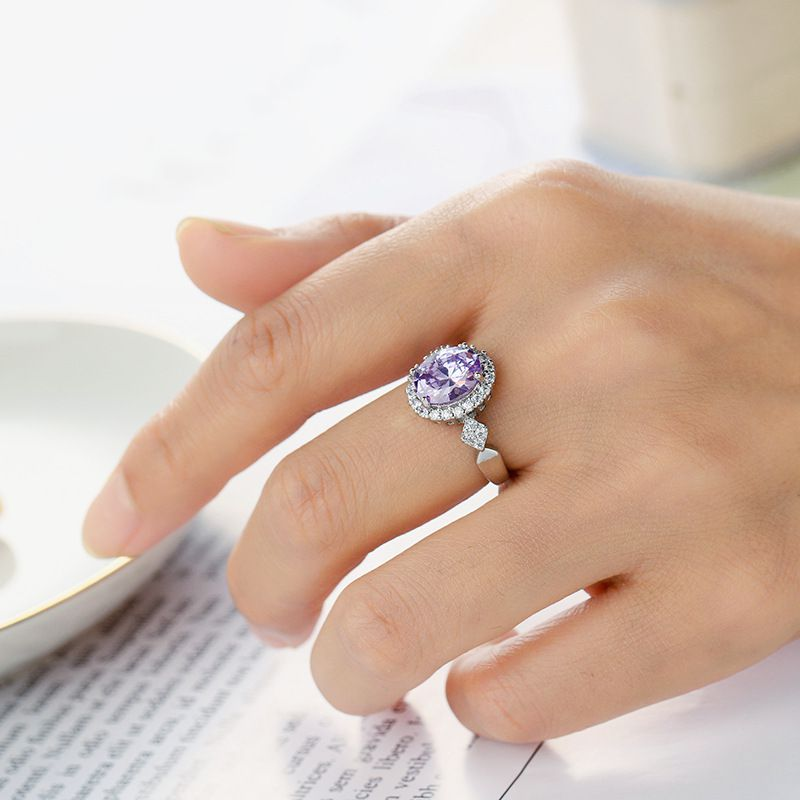 Purple Crystal Ring Fashion Jewellery