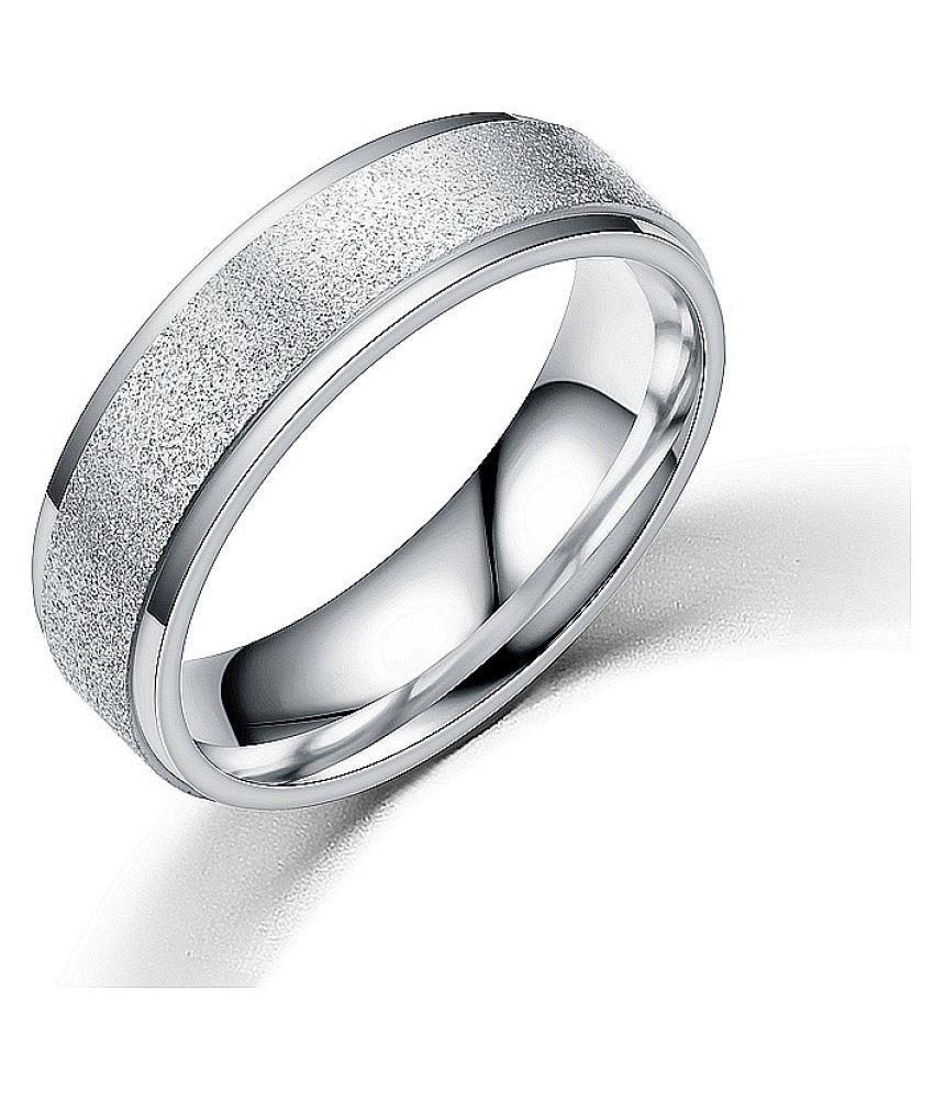 Silver Color Matte Ring Fashion Jewellery