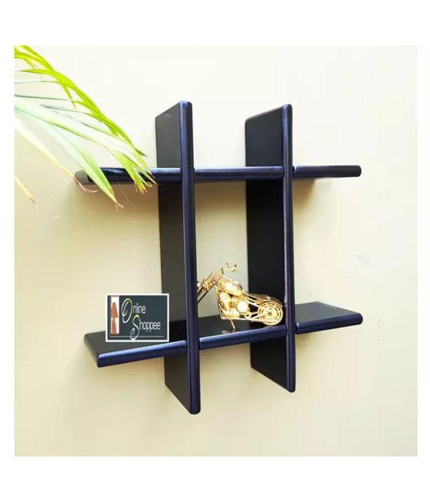 Onlineshoppee Wooden Wall DecorRack Shelf