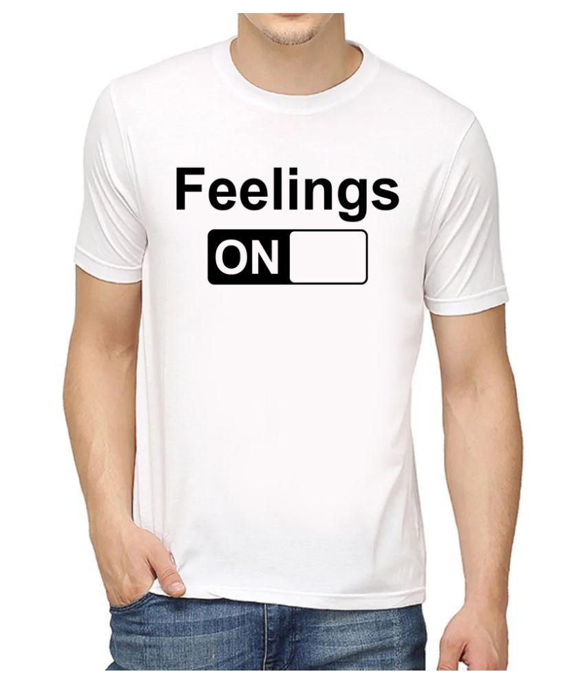 LEQOS White Half Sleeve T-Shirt
