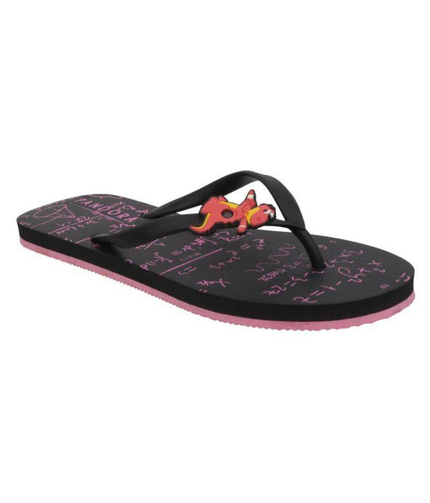 Pandora 15 Black Abstract Slippers
