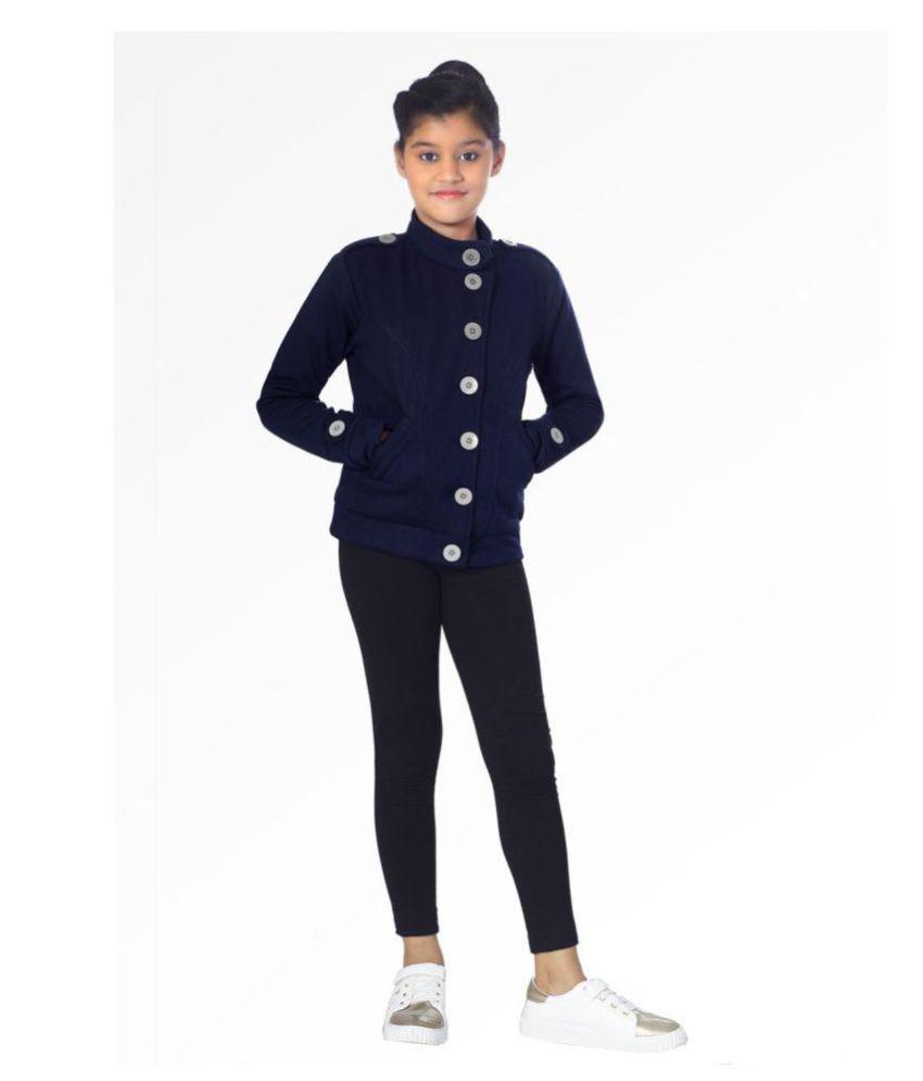 Naughty Ninos Girls Navy Blue Fleece Sweatshirt