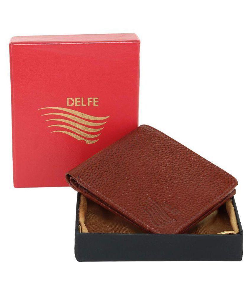 Delfe Leather Tan Casual Regular Wallet