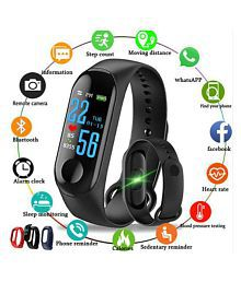 Easypro M3 Waterproof Heart Monitoring Fitness Smart Fitness Band Heart Rate Monitor Bluetooth Smartband Health Fitness Tracker Smart Band Wristband (features similar to MI watch) Compatible with all Android & IOS Devices