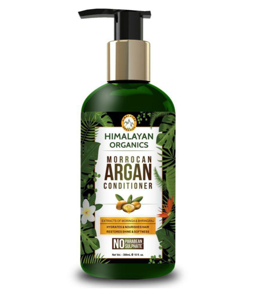 Himalayan Organics Moroccan Argan Oil Conditioner Hydrating Hair Treatment Therapy No Parabens & No Sulphate 300 ml