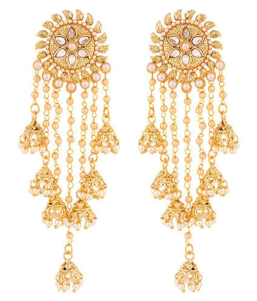 Voylla Floral Latkan Earrings With Gold Plating Buy Voylla