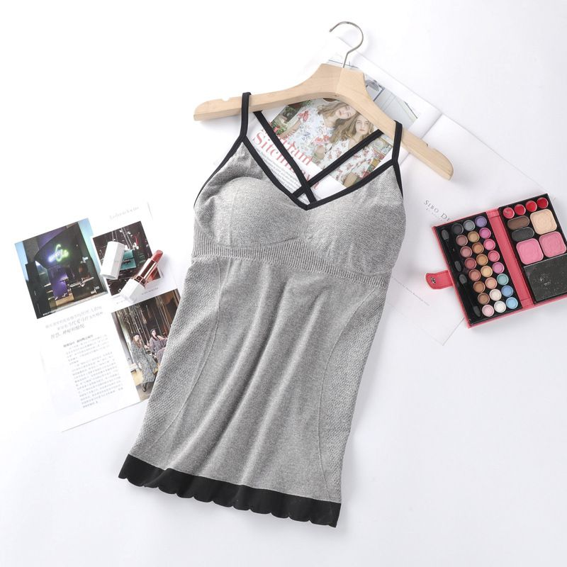 1Pc Gray Slim Seamless Sports Vest
