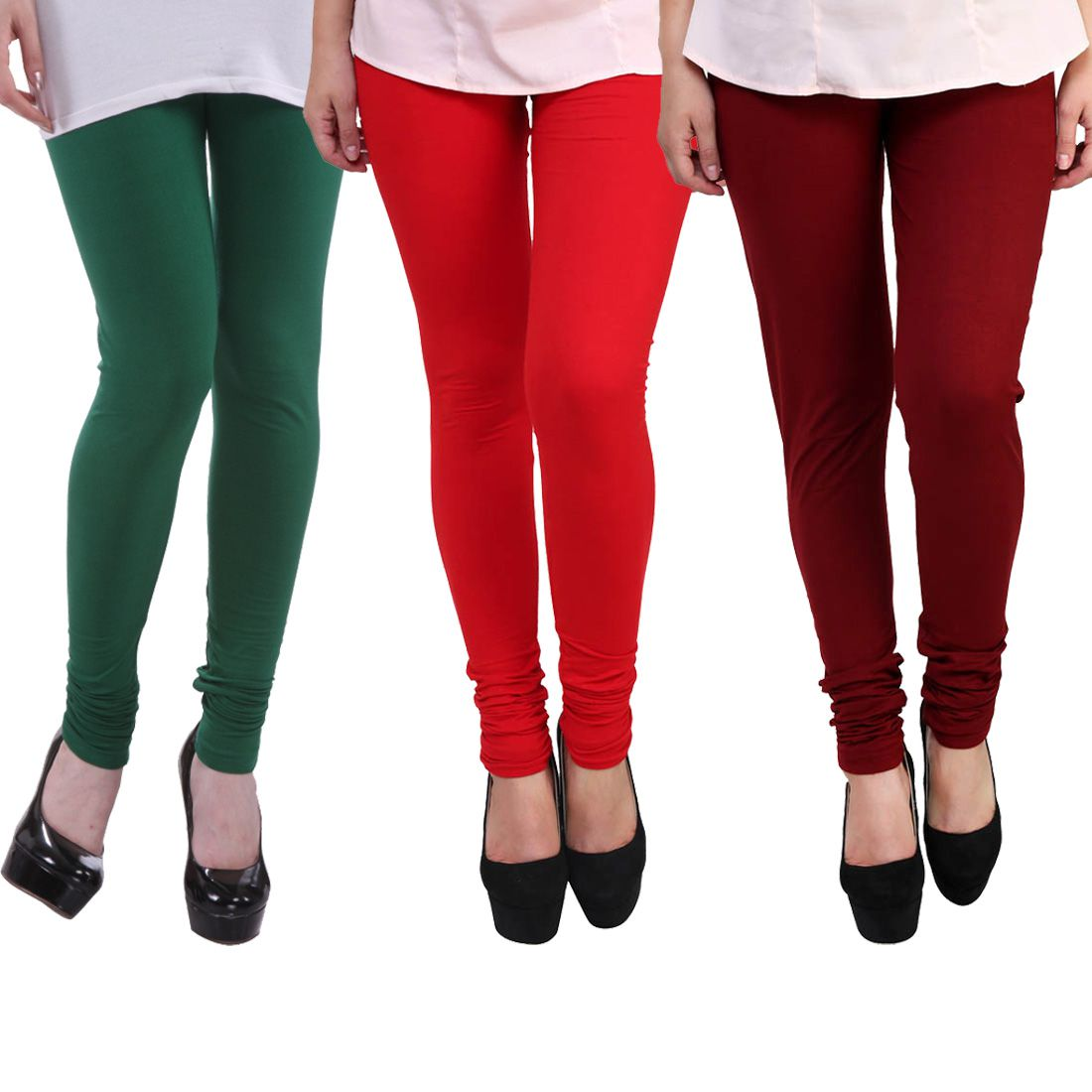 E'hiose Cotton Lycra Pack of 3 Leggings