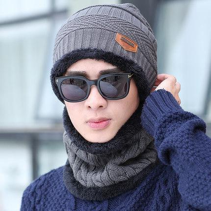 855657379 Knitted Hat Scarf Cap Neck Warmer Winter Hats For Men Women Skullies  Beanies Fleece