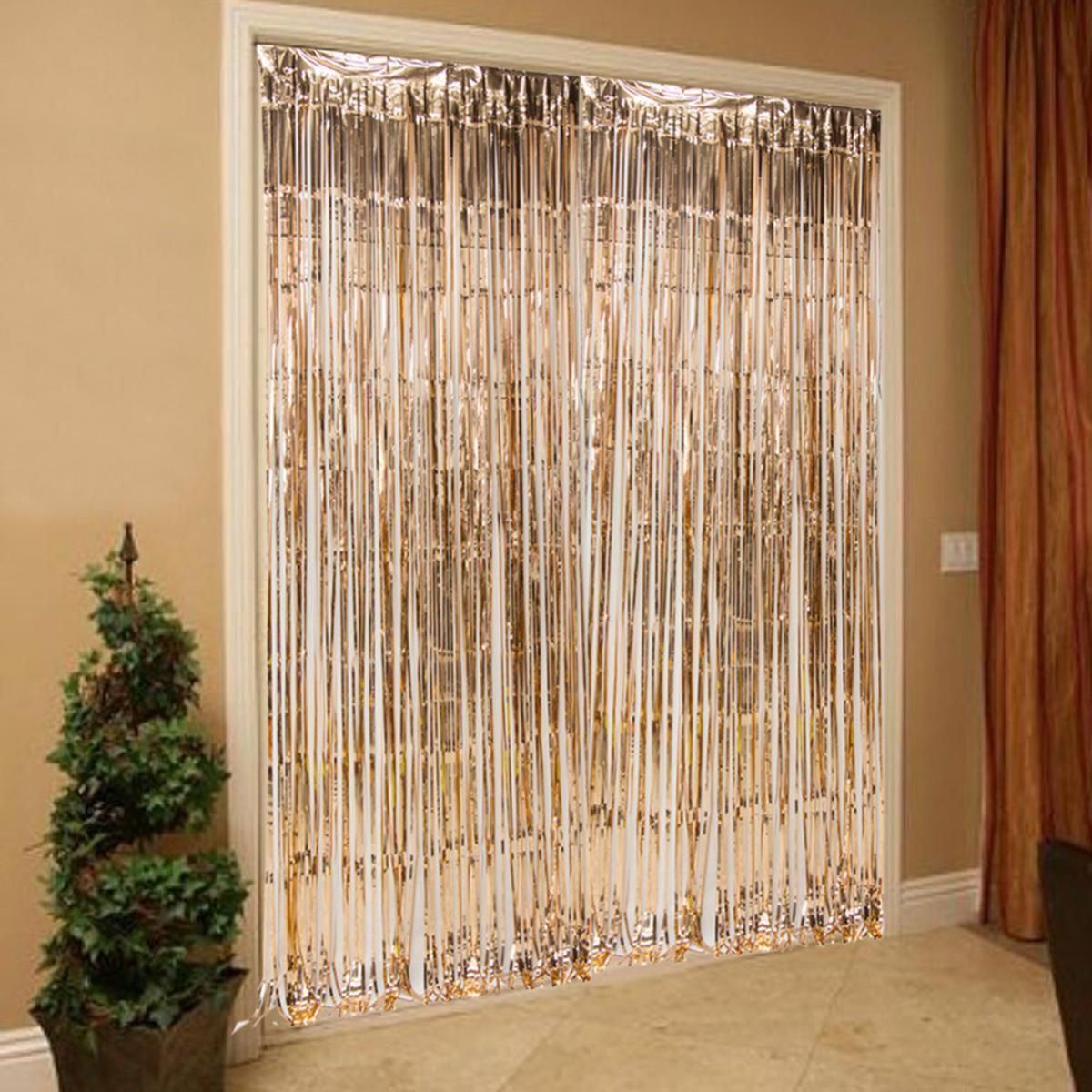 Rose Gold Foil Fringe Curtain SDL 1 6ee01 JPEG