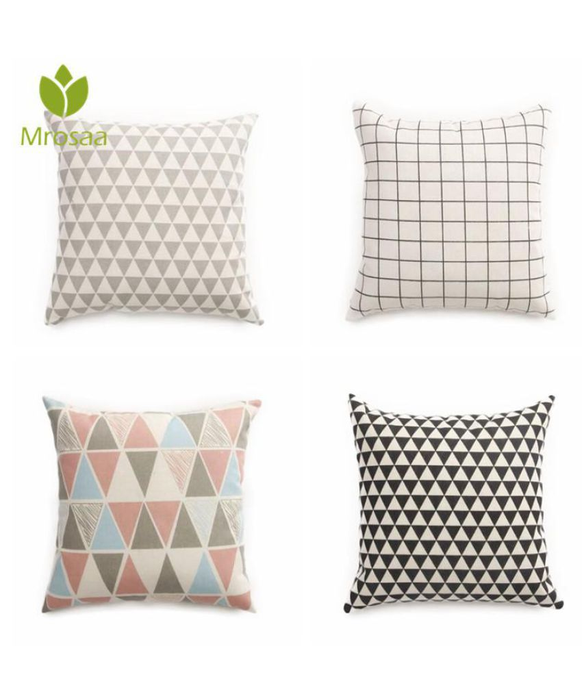 Top Quality Cotton Linen Modern Plaid Geometry Printed Sofa