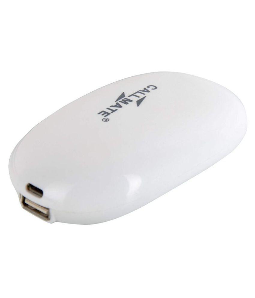 Callmate Soap 5000  mAh Li Ion Power Bank White