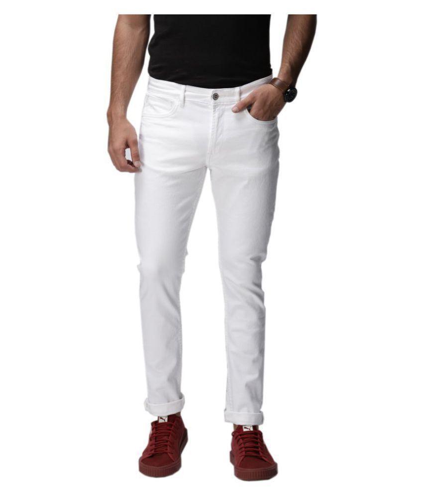 HALOGEN White Slim Jeans