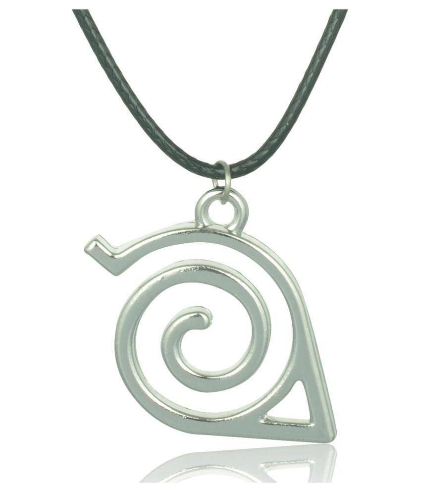 Accessorisingg Naruto Inspired Double Bands Konoha Sign Pendant [PD232]