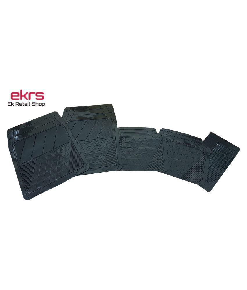 Ek Retail Shop Car Floor Mats (Black) Set of 4 for Hyundai i10 Grand Era U2 1.2 CRDi (Diesel)