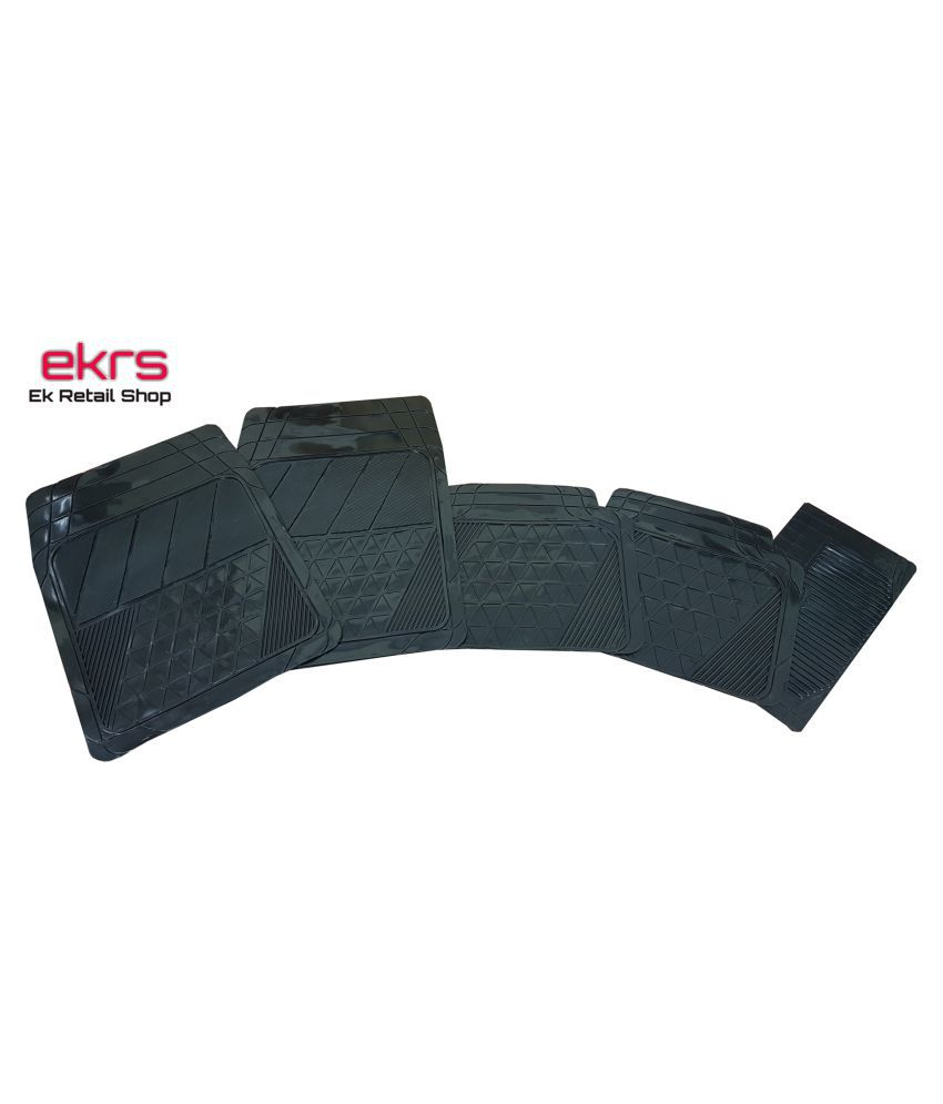 Ek Retail Shop Car Floor Mats (Black) Set of 4 for Hyundai i10 Grand Sportz U2 1.2 CRDi (Diesel)