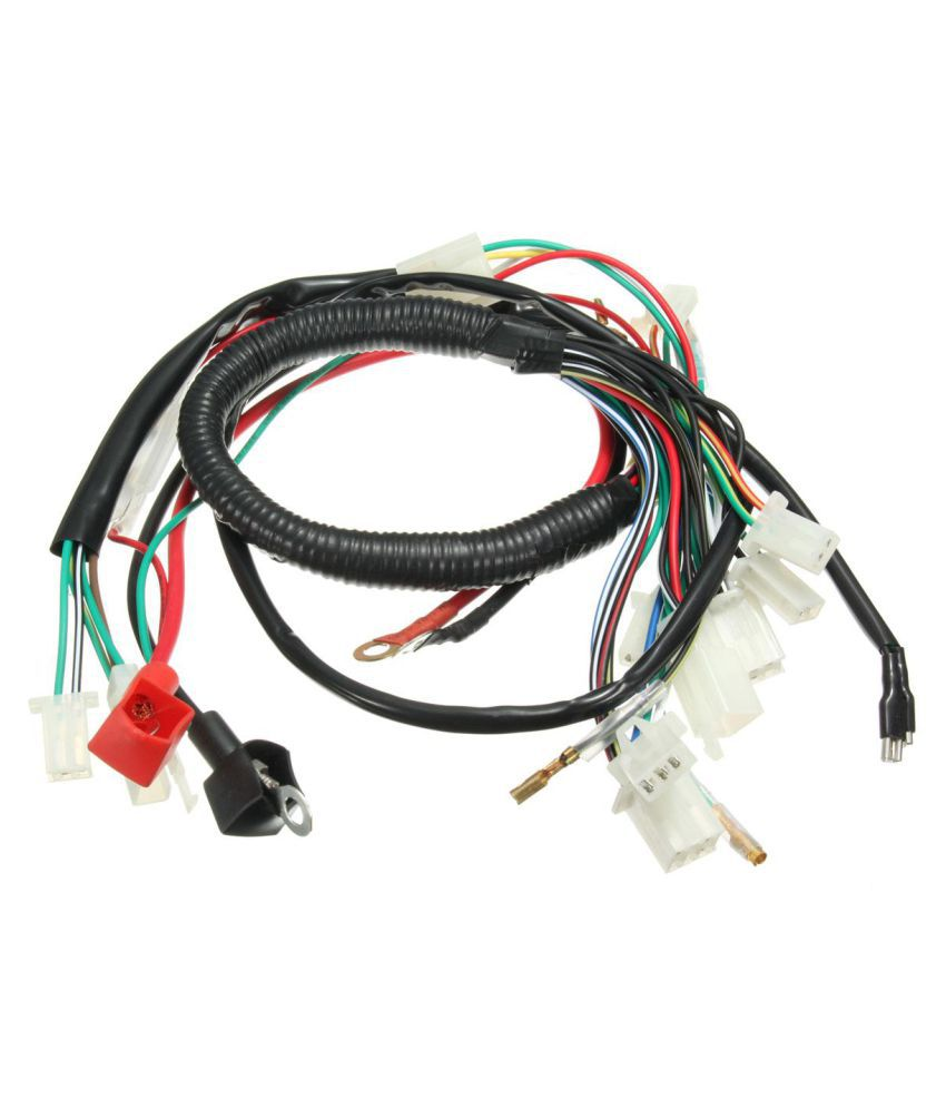 Wiring Harness Machine Electric Start Wiring Loom Harness Pit Bike ATV  Quads 50cc 70cc 90cc 110cc 125cc