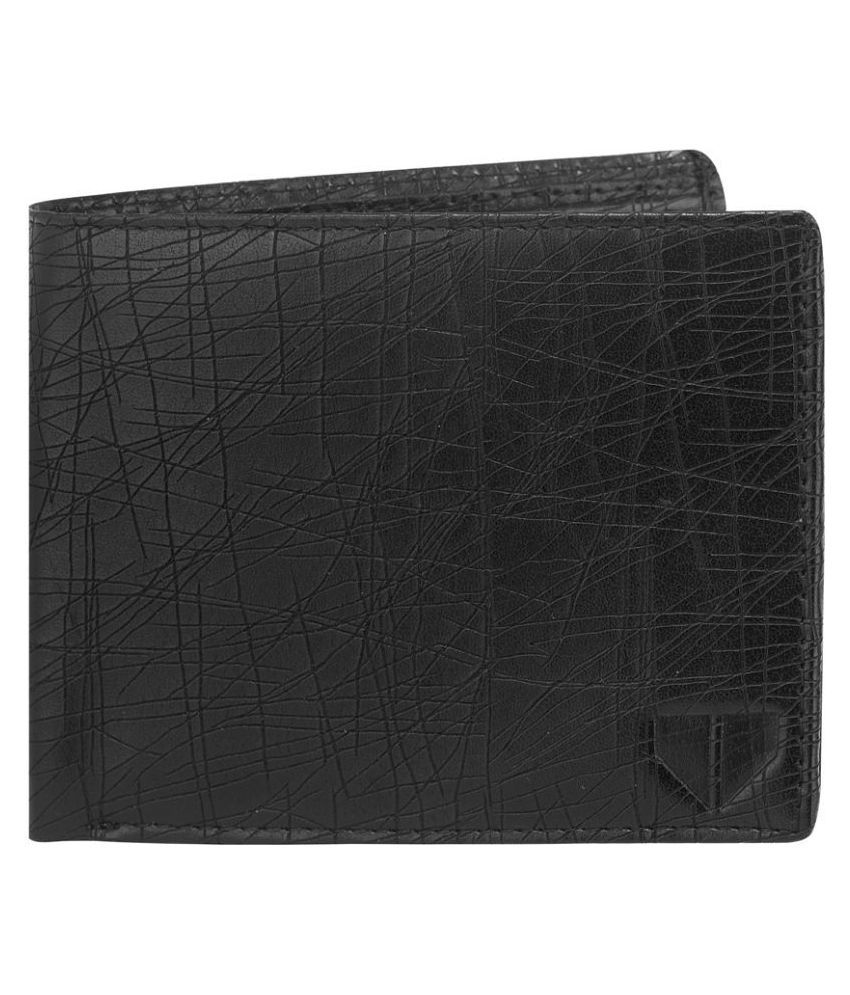 Walrus Faux Leather Black Casual Regular Wallet