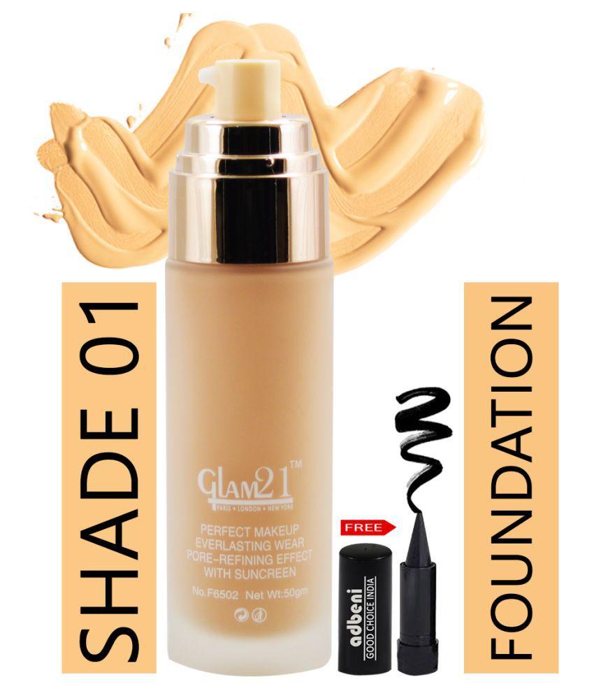 Glam21 Velvet Touch Matte-F6502-01 Liquid Foundation 01 Ivory SPF 35 g