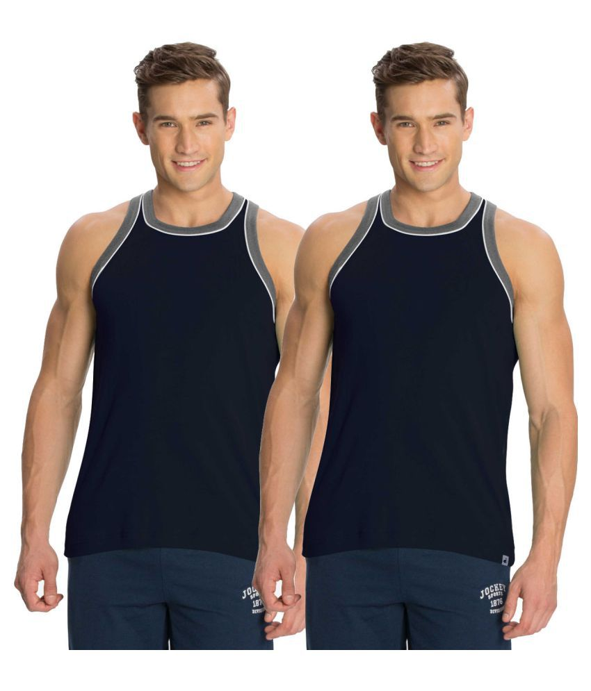 1bd7c5375a1ec8 Jockey Navy Sleeveless Vests Pack of 2 - Buy Jockey Navy Sleeveless Vests  Pack of 2 Online at Low Price in India - Snapdeal