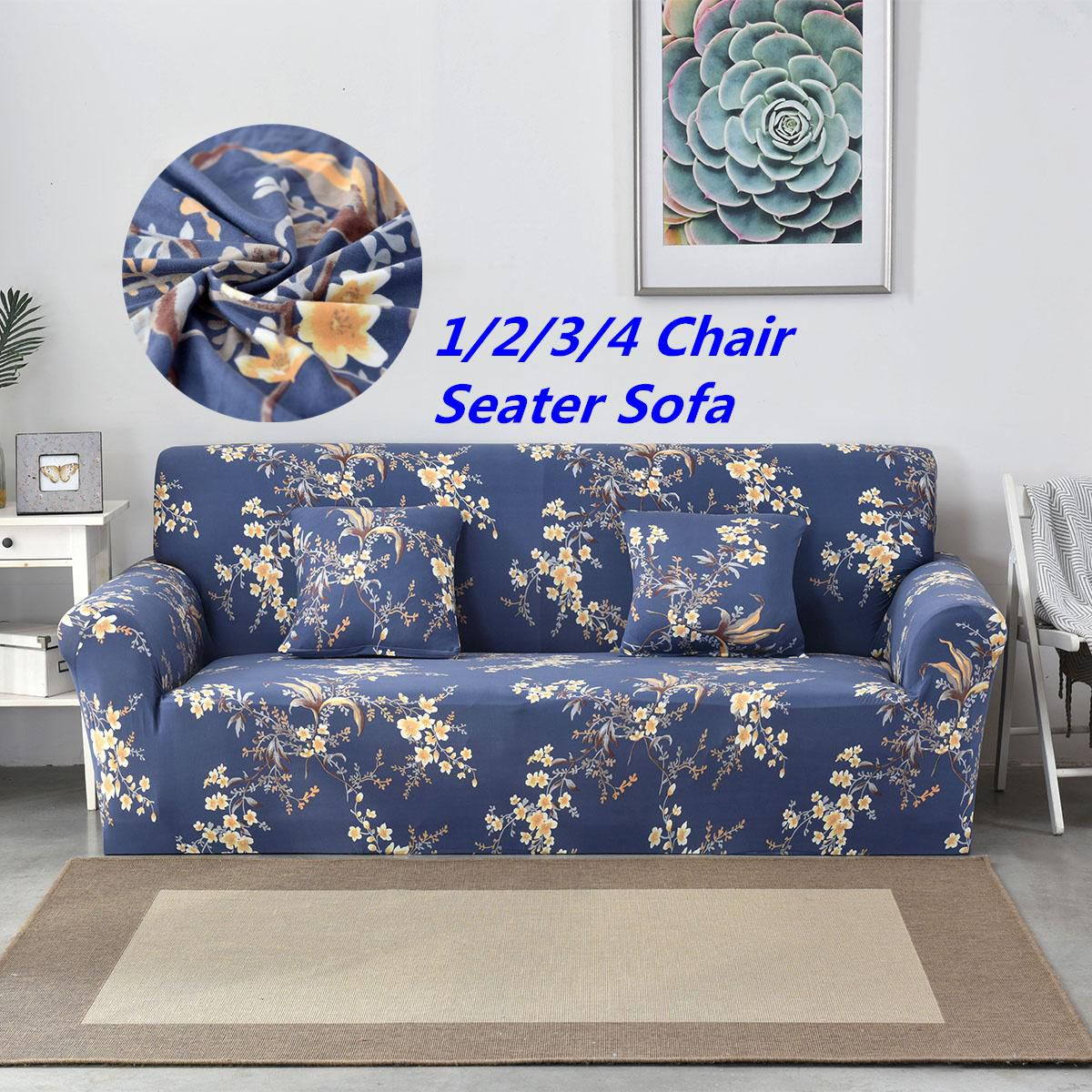 Cool 1 2 3 4 Seater Sofa Cover Chair Couch Stretch Elastic Andrewgaddart Wooden Chair Designs For Living Room Andrewgaddartcom