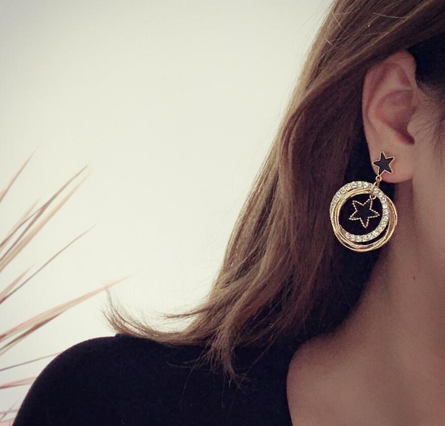 Pentagram Multi-Layer Earrings Fashion Jewellery