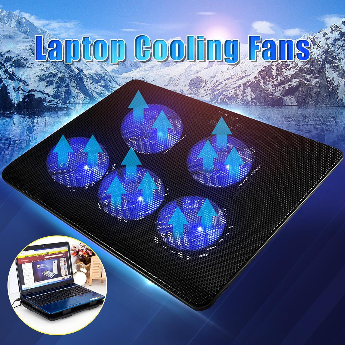 Laptop Cooler Cooling Stand Pad Coolpad Fan Mat External 12