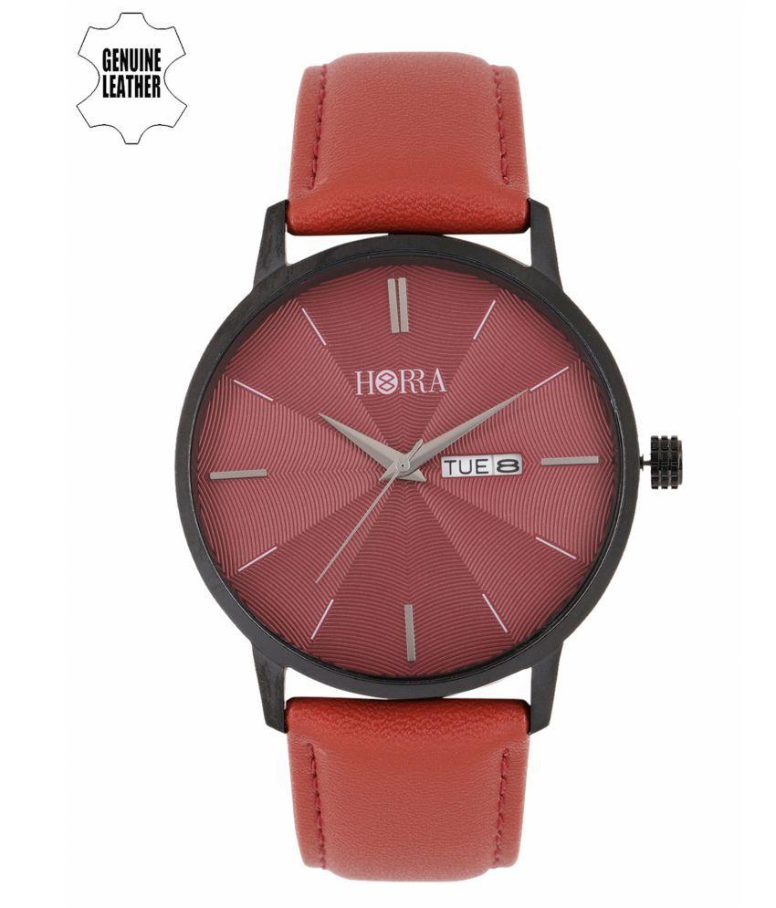 Horra PB1018MLR1 Leather Analog Men's Watch