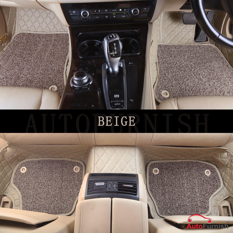 Autofurnish 7D Luxury Car Mats For Mahindra Bolero 2016 - Beige - Set of 4 Mats