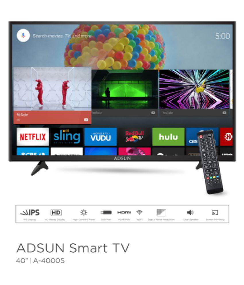 ADSUN 40AESL1 99 cm ( 40 ) Smart Android HD Ready (HDR) LED Television