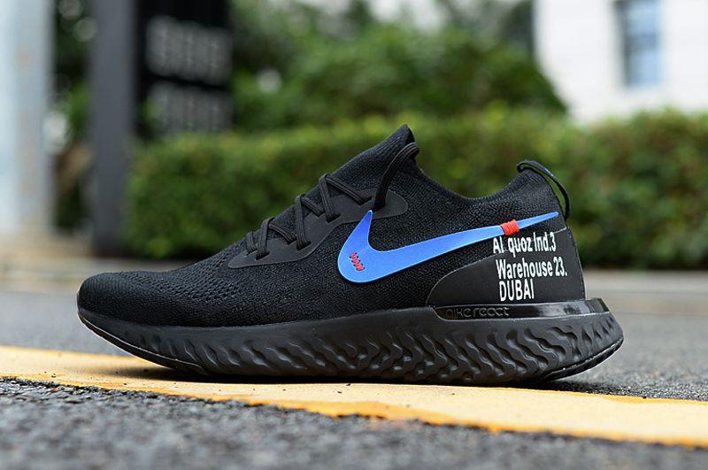 Interprete Privilegiado Recuento  Nike EPIC REACT FLYKNIT DUBAI GYM werhouse Black Running Shoes Price in  India- Buy Nike EPIC REACT FLYKNIT DUBAI GYM werhouse Black Running Shoes  Online at Snapdeal
