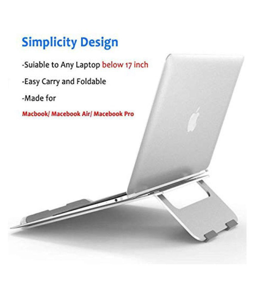 urban kings Laptop Table For Upto 48.26 cm (19) Silver