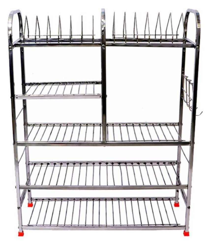 ShiviCreation 31X10X30 Inch Wall Mount Kitchen Dish Rack Stainless Steel  Kitchen Rack (Silver)