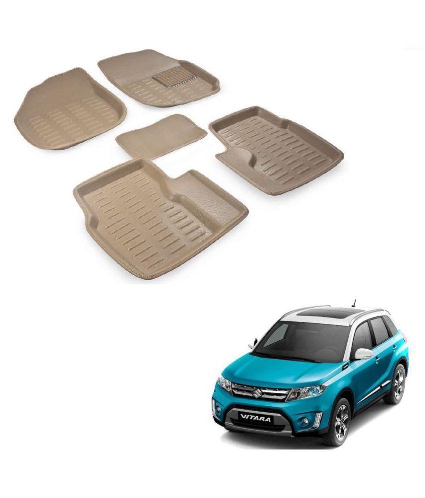 Auto Addict Car 3D Mats Foot mat Beige Color for Maruti suzuki Vitara Brezza