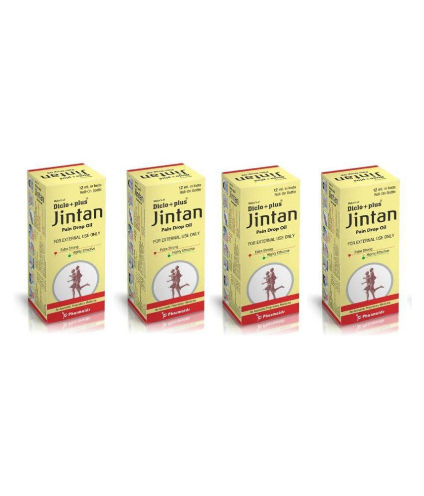 JIntan ROll-ON Natural Pain Relief Oil 12 ml Pack Of 4