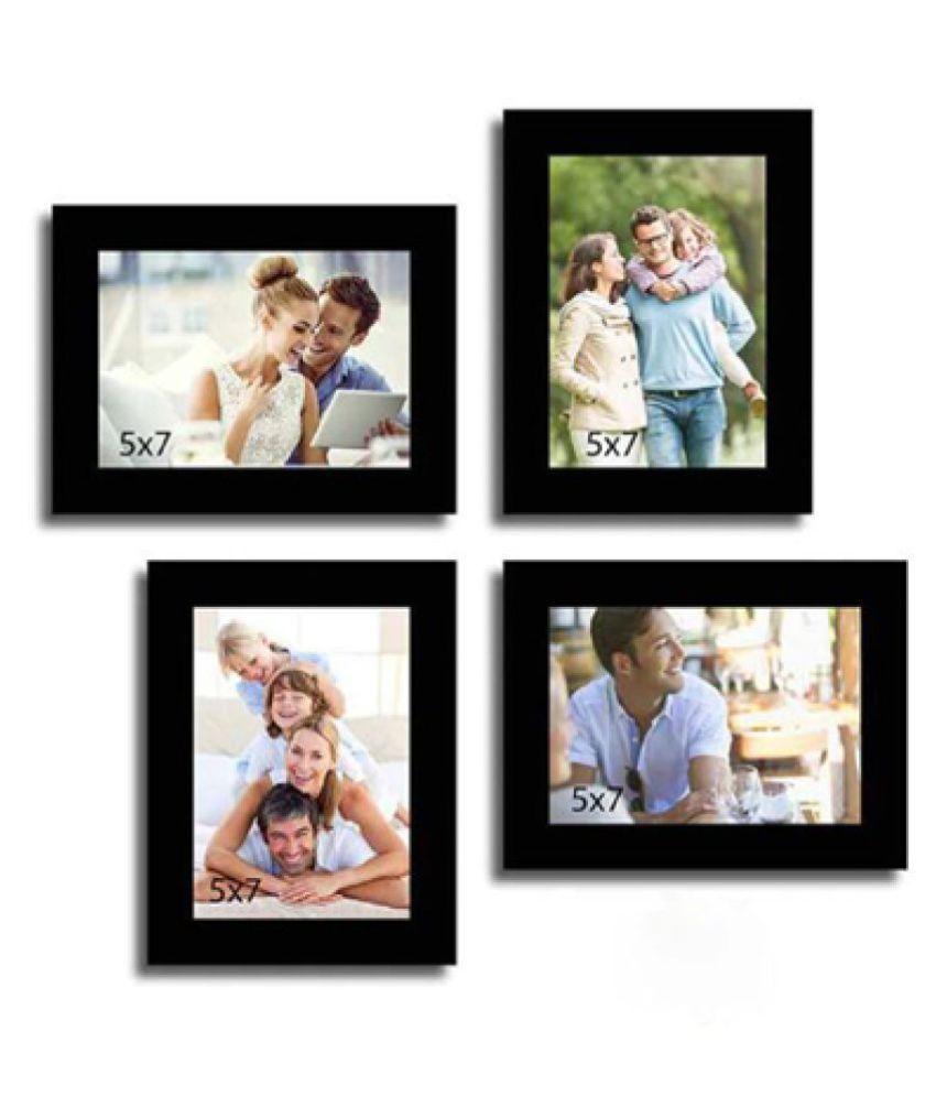 KG IMAGICA Wood Wall Hanging Black Photo Frame Sets - Pack of 1