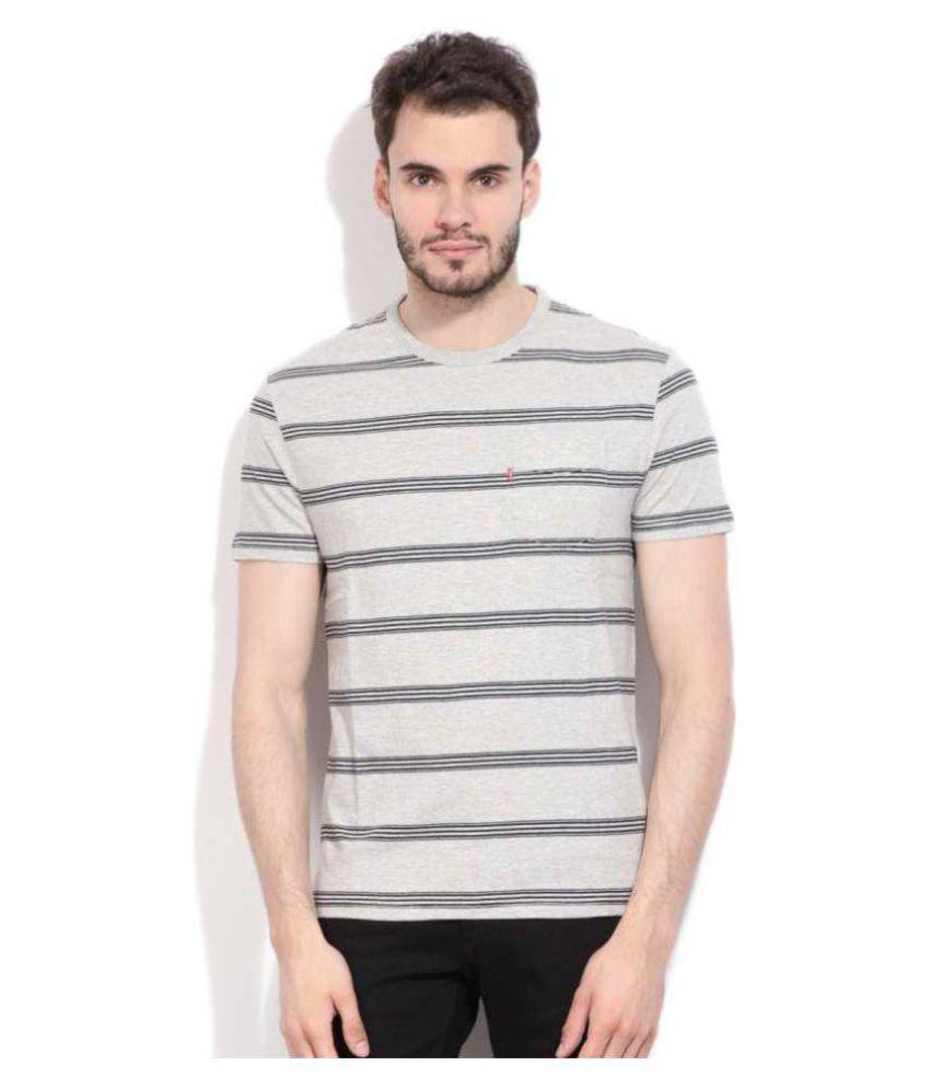 Levi's Grey Half Sleeve T-Shirt