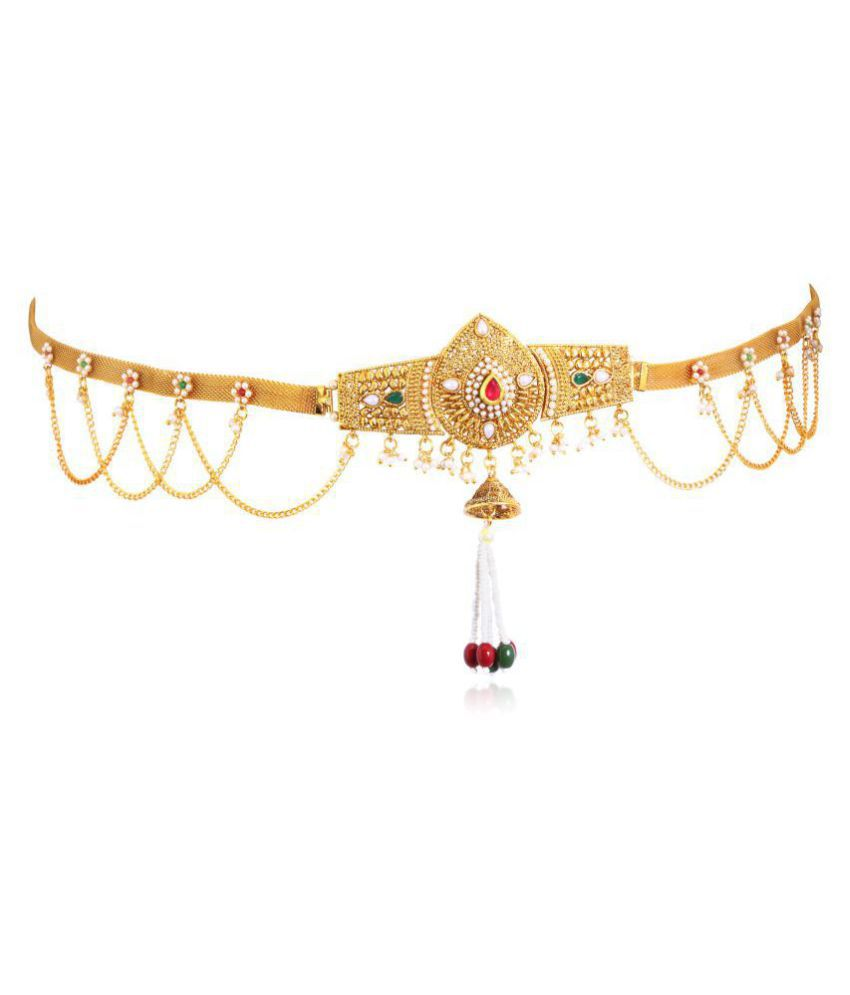 abe41a3c5e39b .Sukkhi Alluring Gold Plated Kamarband for women + Free Pair of Earrings of  Worth INR.199/-