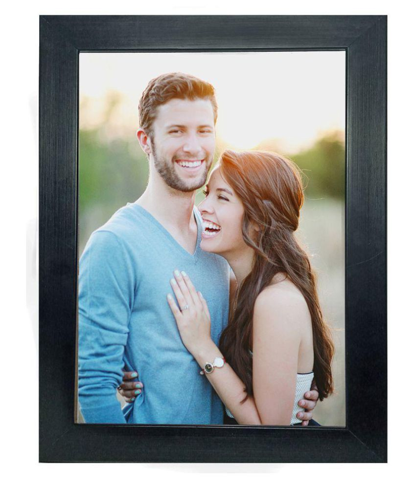 flywings Wood Table Top & Wall hanging Black Single Photo Frame - Pack of 1