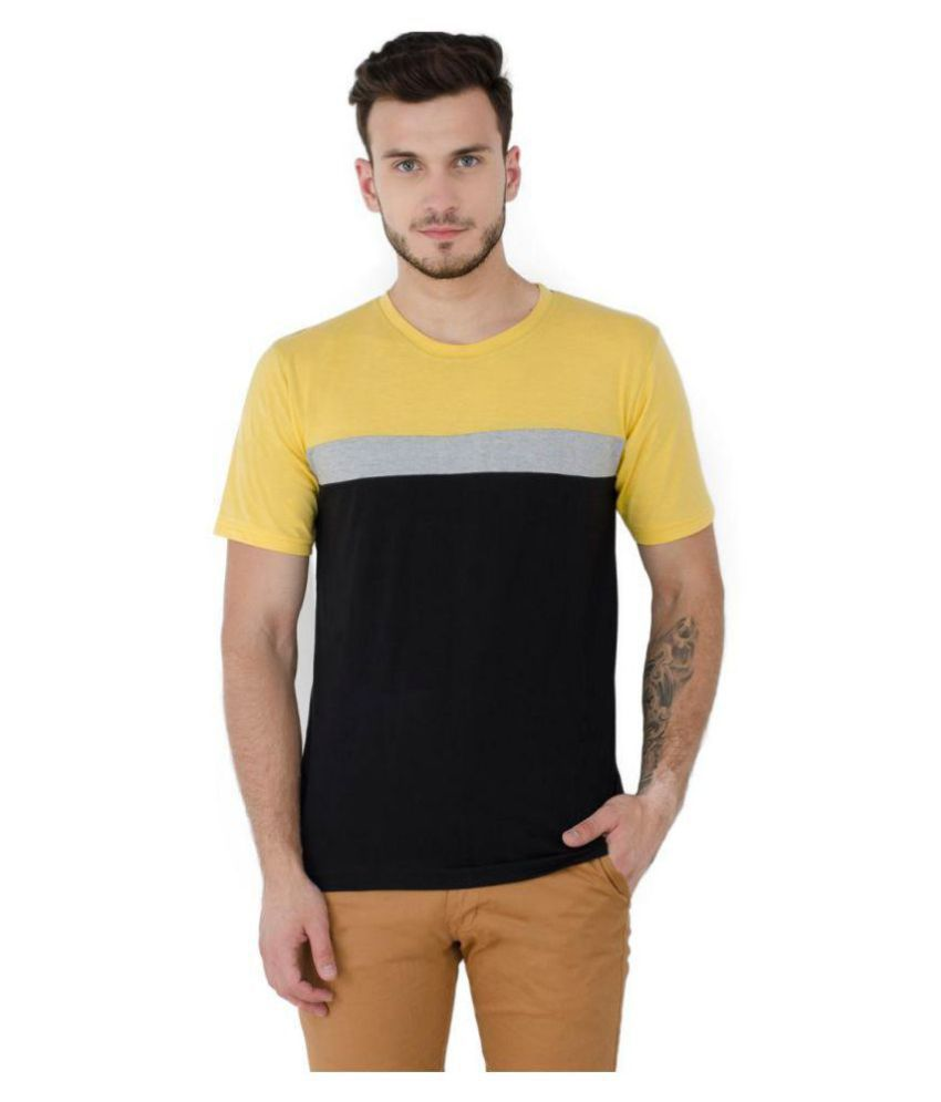 Lime Yellow Half Sleeve T-Shirt Pack of 1