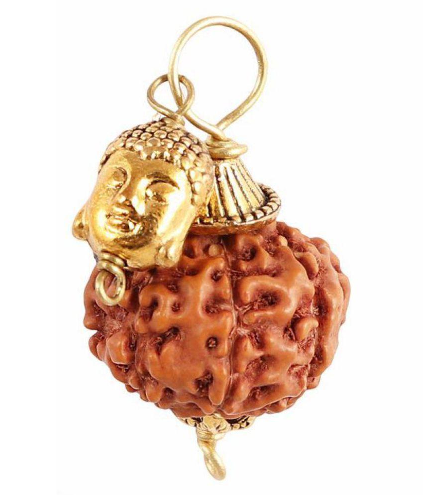 Rudra Blessings 7 Mukhi Indonesian Rudraksha Pendant with Buddha Accessory