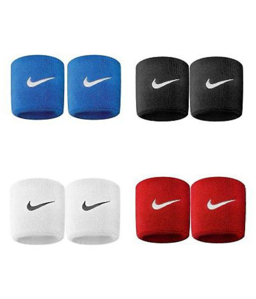 Cashwin WristBand Combo Of 4 Pairs (Black,Red,Blue,White (Each of 2) )