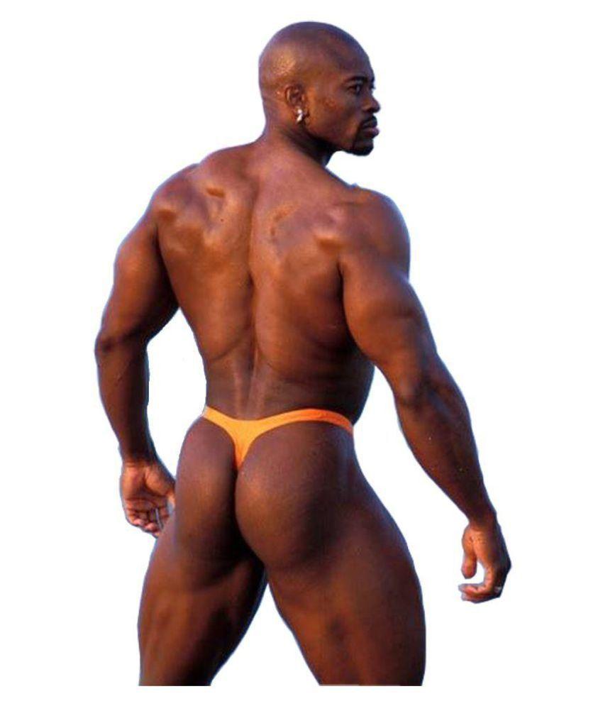Male Power Orange Thong Single