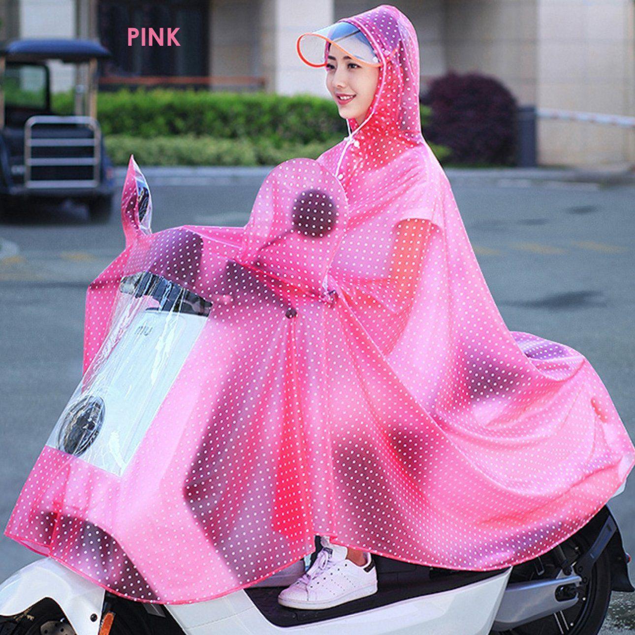 Happy2BuY Waterproof Long Raincoat - Pink