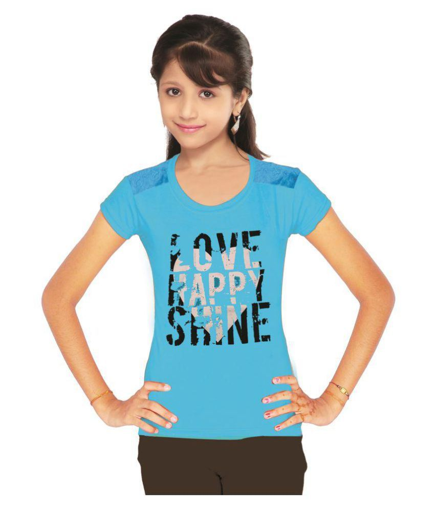 cbb9ceed434f9 THE LAVISH CLUB - Girls Printed T-Shirt - Buy THE LAVISH CLUB - Girls  Printed T-Shirt Online at Low Price - Snapdeal